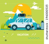 travel lifestyle concept of... | Shutterstock .eps vector #196000535