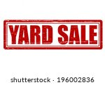 Stamp with text yard sale inside, vector illustration
