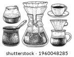 sketch vector set of coffee... | Shutterstock .eps vector #1960048285