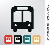 city bus icon.    Shutterstock .eps vector #196004912