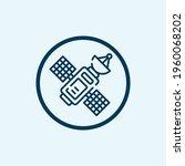 satellite icon isolated on...