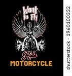 want to fly ride motorcycle t... | Shutterstock .eps vector #1960100332