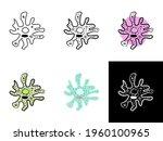 amoeba icons set isolated on... | Shutterstock .eps vector #1960100965