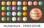 gradient mesh in form of sphere.... | Shutterstock .eps vector #1960110148