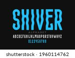 shiver style font design ... | Shutterstock .eps vector #1960114762