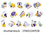 set of isolated retirement... | Shutterstock .eps vector #1960134928