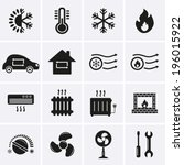 heating and cooling icons | Shutterstock .eps vector #196015922