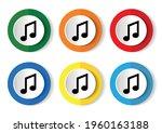 music vector icon set  flat... | Shutterstock .eps vector #1960163188