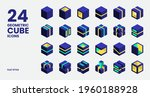 geometric cube icons collection ... | Shutterstock .eps vector #1960188928