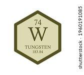 w tungsten transition metal... | Shutterstock .eps vector #1960191085