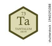 ta tantalum transition metal... | Shutterstock .eps vector #1960191088