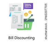 bill statement with discount...   Shutterstock .eps vector #1960207705