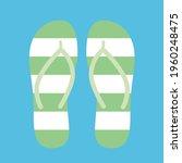 stripped green and white flip...   Shutterstock .eps vector #1960248475