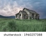 An Old Abandoned House In Green ...