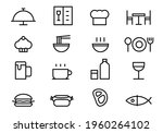 outline food simple icons set ... | Shutterstock .eps vector #1960264102