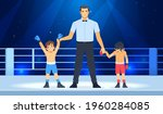 professional boxing champ with...   Shutterstock .eps vector #1960284085