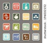 money icons.vector eps10 | Shutterstock .eps vector #196032152