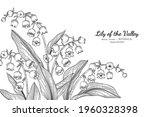 lily of the valley flower and... | Shutterstock .eps vector #1960328398