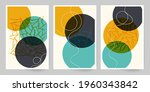 abstract cover template. set of ...   Shutterstock .eps vector #1960343842