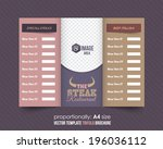 tri fold brochure and catalog... | Shutterstock .eps vector #196036112