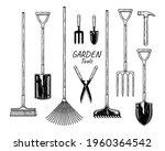 Sketch Vector Set Of Gardening...