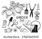 sketch vector set of gardening... | Shutterstock .eps vector #1960364545