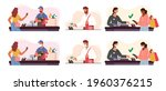 set of customer characters use... | Shutterstock .eps vector #1960376215