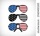 patriotic sunglasses set with... | Shutterstock .eps vector #1960400185