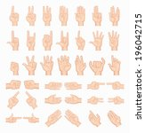 collage of  hands   eps10... | Shutterstock .eps vector #196042715