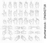 collage of  hands   eps10... | Shutterstock .eps vector #196042718