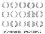 back line circular laurel... | Shutterstock .eps vector #1960438972