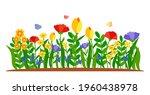 summer border flowers with...   Shutterstock .eps vector #1960438978