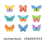 set of flying butterflies icons ...   Shutterstock . vector #1960441915