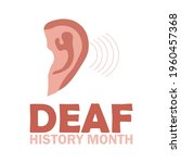 national deaf history month ... | Shutterstock .eps vector #1960457368