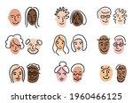 different couple family... | Shutterstock .eps vector #1960466125