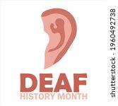 national deaf history month ... | Shutterstock .eps vector #1960492738