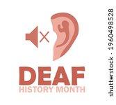 national deaf history month ... | Shutterstock .eps vector #1960498528