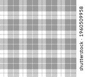 grey and white gingham.... | Shutterstock .eps vector #1960509958