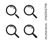 loupe. magnifying glass vector... | Shutterstock .eps vector #1960543798