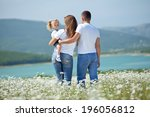 happy young family spending... | Shutterstock . vector #196056812