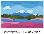 paper cut background. landscape ...   Shutterstock .eps vector #1960577455