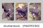 set of marble patterns. bright...   Shutterstock .eps vector #1960592302