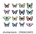 vector butterfly. big... | Shutterstock .eps vector #1960613692