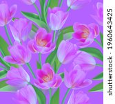 floral seamless tulip with... | Shutterstock .eps vector #1960643425