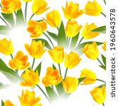 floral seamless tulip with... | Shutterstock .eps vector #1960643578