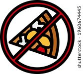 icon of prohibited pizza....