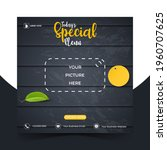 food or culinary social media... | Shutterstock .eps vector #1960707625