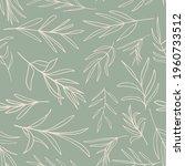 herb leaves random placed... | Shutterstock .eps vector #1960733512