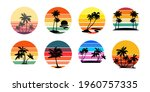 set of retro sunsets in the... | Shutterstock .eps vector #1960757335