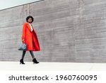 Fashionable Black Woman In Red...